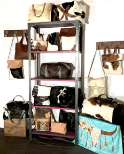 Handmade leather and cowhide bags
