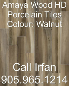 6x24 6x36 8x48 Amaya Wood Walnut Porcelain Tiles Flooring Tiles
