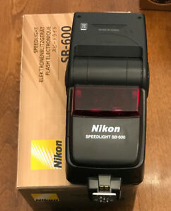 Nikon SB-600 Speedlight flash Original box etc.