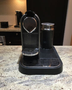 Nespresso Machine with Milk Frother and Capsules Rack