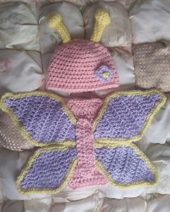 Newborn butterfly photo prop outfit.