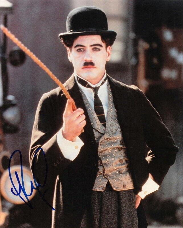 ROBERT DOWNEY JR... Chaplin - SIGNED