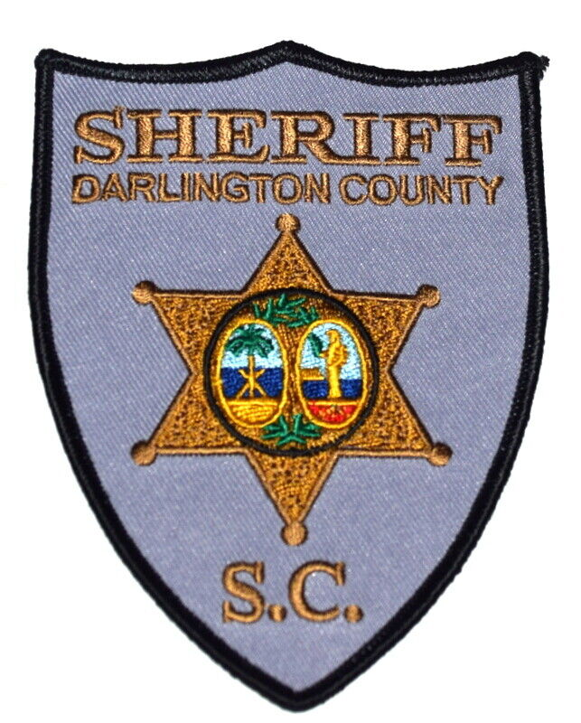 DARLINGTON COUNTY SOUTH CAROLINA SC Sheriff Police Patch STATE SEAL PALM ~