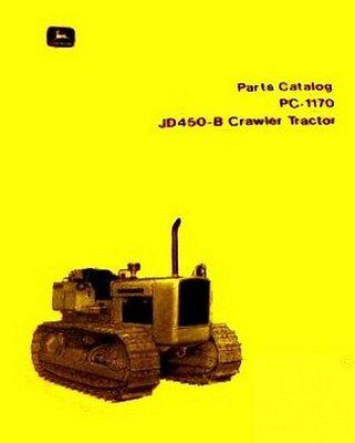 John Deere Model 450-b 450b Crawler Tractor Parts Manual Catalog Jd