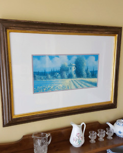 Professionally framed picture
