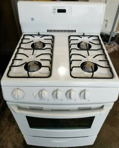 "GE Compact 24"" Gas Stove, 12 month warranty"