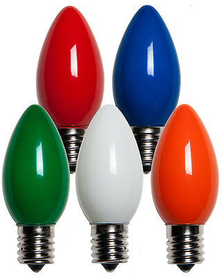 25 C9 Multi Color Ceramic Replacement Bulbs Christmas Lights Holiday Wedding