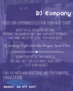 Professional DJ's for all your events.. Classics to the Hits!!