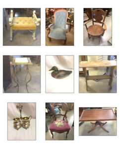 AUCTION Antiques & MORE, clearing, MOST lots start at $1