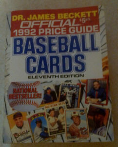 11th Edition Dr Beckett Baseball Card Price Guide 1992
