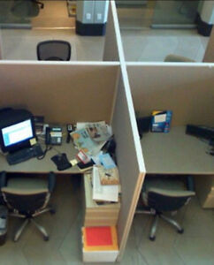 4 Desk Cubicles with partitions
