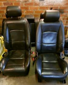 Jaguar XJR X350 Complete Black Leather Seats Interior XJ XJ6 XJ8