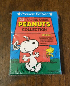 Peanuts Collection Preview Edition 33 Trading Cards Sealed New