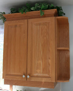 Oak kitchen cupboard