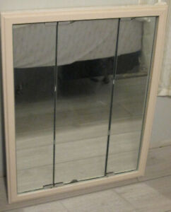 Medicine Cabinet Mirrored Touch Open Metal Paintable 30 Obo
