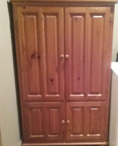 Custom built solid pine armoire
