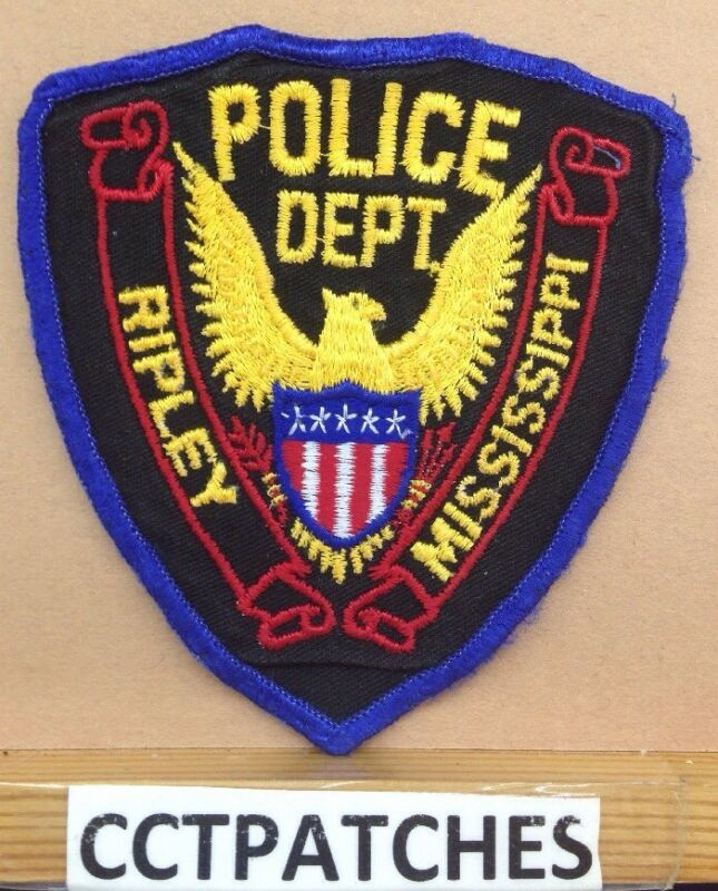 RIPLEY, MISSISSIPPI POLICE STOCK EAGLE SHOULDER PATCH MS
