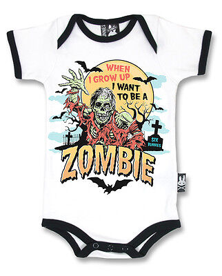 Six Bunnies zombie vest alternative baby clothes goth rock punk metal horror - Baby Zombie Clothes