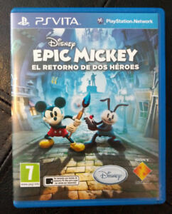 Epic Mickey 2 PS Vita Physical Copy Mint Condition