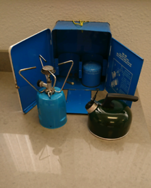 Camping stove and kettle