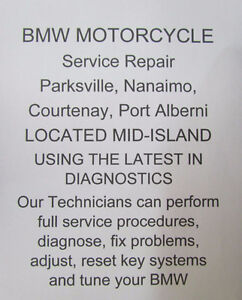 BMW Motorcycles Service, Repairs Parksville, Nanaimo Courtenay