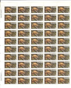 #732 A360 Endangered Wildlife, Eastern CougarSheet of Stamps
