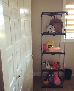 Indoor bedroom or laundary room shelf