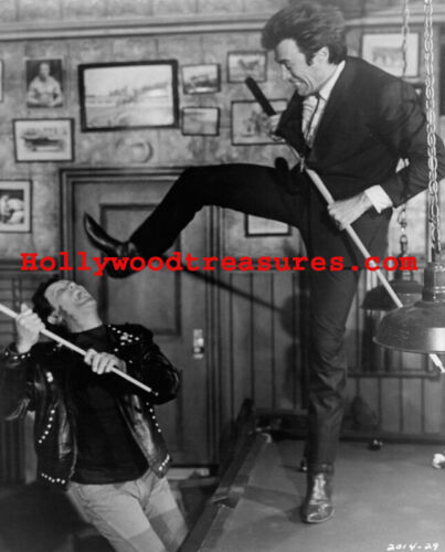 """Clint Eastwood~Shooting Pool~Playing Pool~Billiards~Poster~#3~16"""" x 20"""" Photo"""