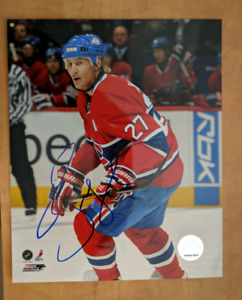 Montreal Canadiens signed 8x10 $10 each/chaque autograph photos