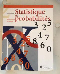 Statistiques et probabilités, Gilles Ouellet