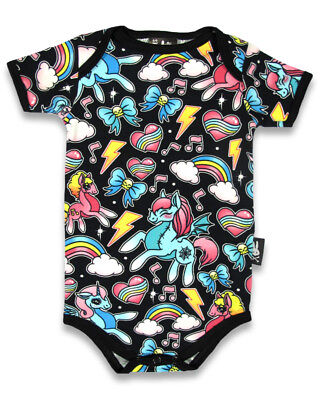 SIX BUNNIES BLACK UNICORN MY LITTLE PONY RAINBOW BABY VEST ROMPER TATTOO GIFT](Rainbow Baby Tattoos)