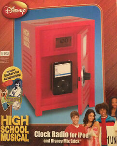 High School Musical Locker Clock Radio for IPod NIB