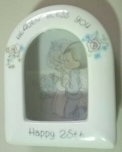 Vintage Precious Moments Heaven Bless You/Happy 25th Anniversary