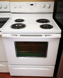 """Whirlpool 30"""" White Electric Stove"""