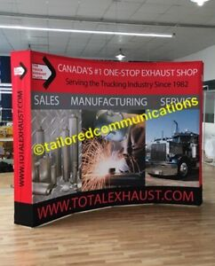 FREE Shipping 10ft Popup Backdrop Trade Show Display