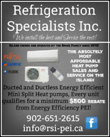 HEAT PUMP SALES & SERVICE MOST AFFORDABLE PRICES ON PEI