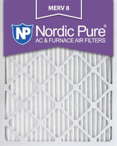 AC Furnace Air Filter, 18x24x1,  Nordic Pure MERV 8 Pleated