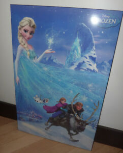 Plaque-mounted FROZEN poster