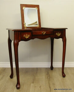 Vintage Small Vanity Make up Table by Bombay Co