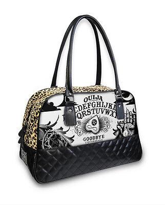 Liquor Brand Ouija Board Occult Punk Goth Overnight Bowler Bag Purse B-CQ-028