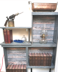 Upcycled industrial style bookcase