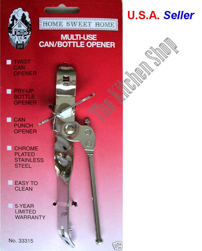Can Bottle Opener Hand Held Multi-Use Crank Twist Opener Pun
