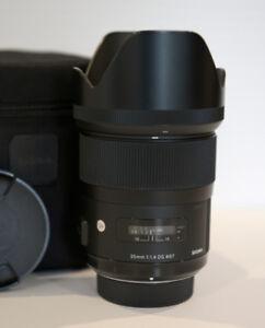 SIGMA 35mm, 1.4 ART SERIES LENS FOR NIKON. AMAZING PRIME LENS