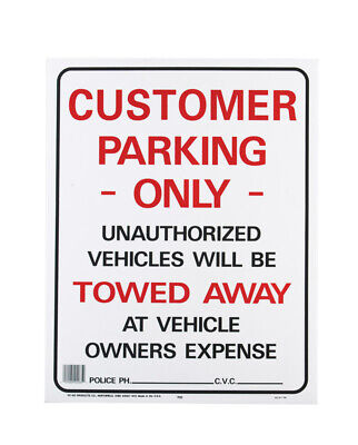 Hy-ko English 19 In. H X 15 In. W Plastic Sign Customer Parking Onlyunautho