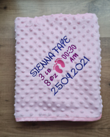 Personalised Embroidered Baby Blankets