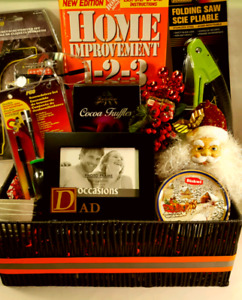 Dad's Christmas Gift Basket! (Shrink wrapped/Ribbon/Bow)