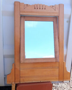 ARTS and CRAFTS MIRROR for Pine Dresser Top Bedroom Dining Antique Carved Made by Hand Vintage MCM Art Deco