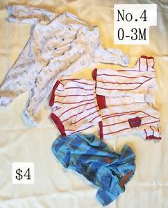 clothing baby items boy girl newborn 0-3 months
