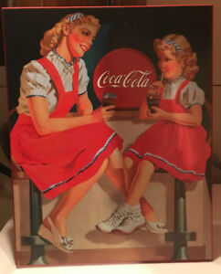 RETRO COCA COLA SODA SHOP PRINT MOUNTED DINER