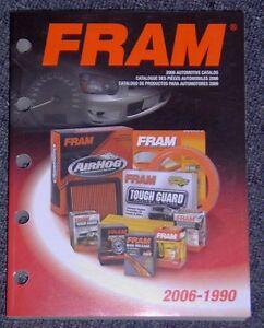 Fram Filters Catalog Cars Trucks all makes etc 1990-2006